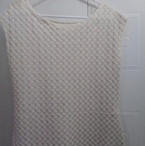 LASY BLAIR DRESS SIZE 14 ANTIQUE WHITR